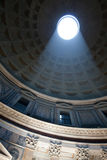 Pantheon Dome. Interior of the Pantheon, know today as the Roman-Catholic Church of St. Mary and the Martyrs, showing the Dome with its opening and decorations Stock Photo