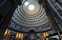 Pantheon, the dome Stock Photography