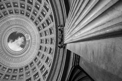 PANTHEON DOME, ROME - black & white royalty free stock photos