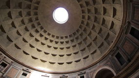 The Pantheon dome, Rome stock footage