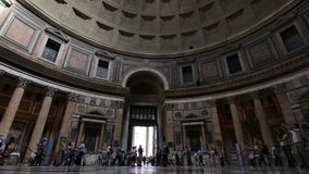 The Pantheon dome, Rome stock video footage
