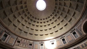 The Pantheon dome, Rome stock video
