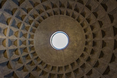 The Pantheon Dome in Rome Italy Stock Images