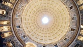 Pantheon, dome, landmark, building, symmetry. Pantheon is dome, symmetry and arch. That marvel has landmark, ceiling and facade and that beauty contains building Stock Photos