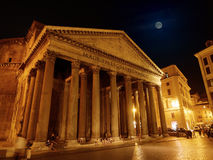 Pantheon facade by night Rome Stock Photo