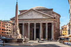 The Pantheon and the Fontana del Pantheon Stock Photo