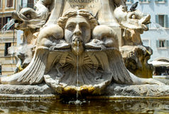 The Pantheon Fountain, Rome, Italy Stock Photo