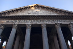 Pantheon Front Columns Agrippa Rome Italy Royalty Free Stock Images