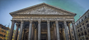 Pantheon HDR. In Rome, old roman building Royalty Free Stock Photos