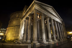 Pantheon, historic building in Rome, Italy - Night Stock Photo