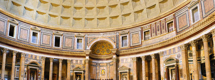 Pantheon-inside interior in Rome, Italy. Stock Photos