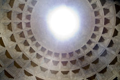 Pantheon - the interior stock image