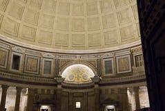 Pantheon interiors at night in Rome Stock Image