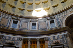 The Pantheon in Italy. The Pantheon is a former Roman temple, now a church, in Rome, Italy, on the site of an earlier temple commissioned by Marcus Agrippa Stock Image