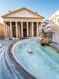 Pantheon in the morning, Rome, Italy, Europe. royalty free stock image