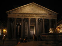 Pantheon by night. Pantheon - Rome - Italy - Europe Royalty Free Stock Photo