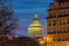The Pantheon at night, Paris, France. Stock Photos