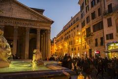 Pantheon at Night, Rome Stock Photo