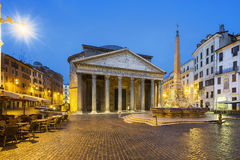 Pantheon by night, Rome, Italy Stock Photos