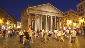 Pantheon at Night stock video