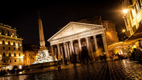 Pantheon at Night, Rome Royalty Free Stock Photography