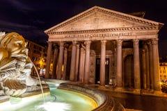 Pantheon at Night, Rome Royalty Free Stock Image