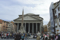 Pantheon and obelisk stock photography