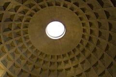 Pantheon Oculus Royalty-vrije Stock Afbeeldingen