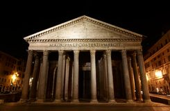 Pantheon - one of the most famous building in Rome. The Pantheon (Latin Pantheon, from Greek Πάνθειον Pantheon, meaning Temple of all the gods) is a Stock Image