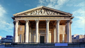 Pantheon in paris with blue sky, Time lapse stock video
