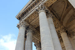 Pantheon in Paris. Columns at Pantheon in Paris, France, an exercise of architectural and aesthetics relationship between Gothic and Greek architecture. Built by Royalty Free Stock Photos