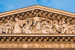 The Pantheon, Paris France-architectural detail Stock Photography