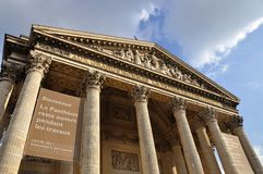 Pantheon Paris, Frankrike Royaltyfria Foton