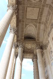 Pantheon, Paris. Monuments national French. Columns - pantheon Paris Stock Photography