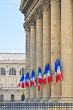Pantheon, Paris-Pillars and French Flags,- Stock Image