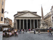 Pantheon and Piazza della Rotonda, Rome Stock Images