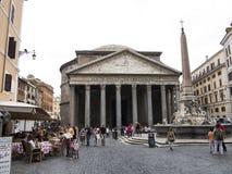 Pantheon and Piazza della Rotonda, Rome Stock Images