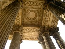 Pantheon pillars royalty free stock photography
