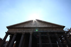 Pantheon with ray of light Royalty Free Stock Photography