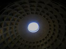 Pantheon with the ray of sun light from the top. Rome, Italy stock images
