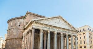 Pantheon in Rom mit blauem Himmel Stockfotografie