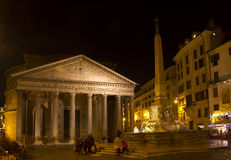 Pantheon roma by night scene Stock Image