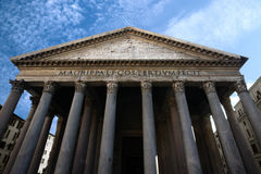 Pantheon in Rome Royalty Free Stock Photo