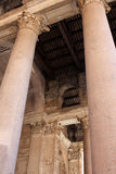 The Pantheon, Rome. Columns of The Pantheon, a temple to all the gods of Ancient Rome, Rome, Italy Stock Image