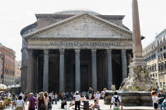 Pantheon, Rome. ROME, ITALY - SEPTEMBER 15, 2011: The Pantheon: temple of Roman Gods on September 15, 2011 Rome, Italy. The Pantheon is a building in Rome Stock Images