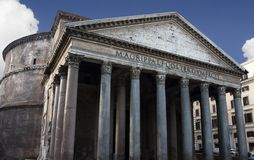Pantheon Rome. The Pantheon is one of the great spiritual buildings of the world. It was built as a Roman temple and later consecrated as a Catholic church Royalty Free Stock Photo