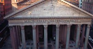 Pantheon in Rome stock videobeelden