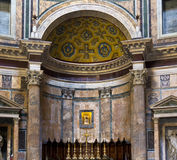 The Pantheon of Rome. The altar of the Pantheon of Rome Royalty Free Stock Images