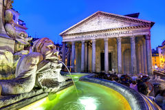 Pantheon, Rome. The ancient Roman temple, the Pantheon in Rome royalty free stock photography
