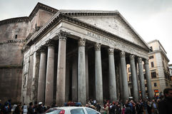 The Pantheon in Rome. Busy day at  Pantheon, Rome Stock Images